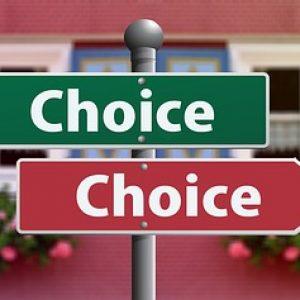 選択の標識